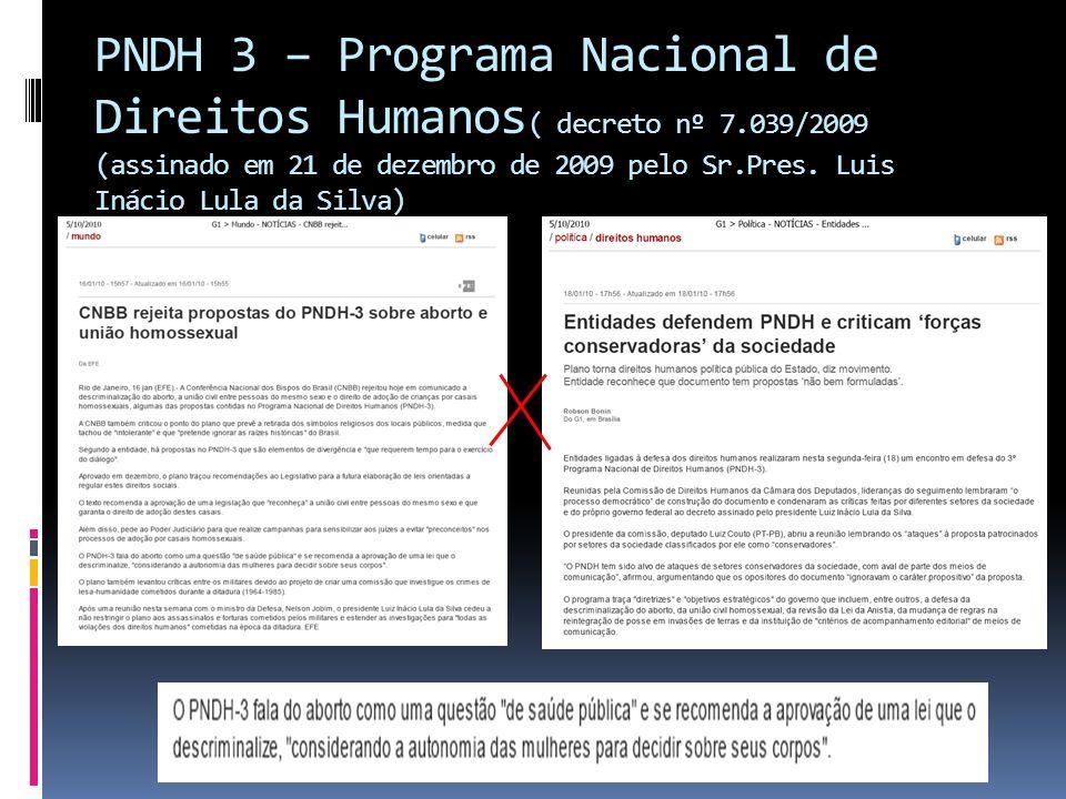 PNDH 3 – Programa Nacional de Direitos Humanos( decreto nº 7