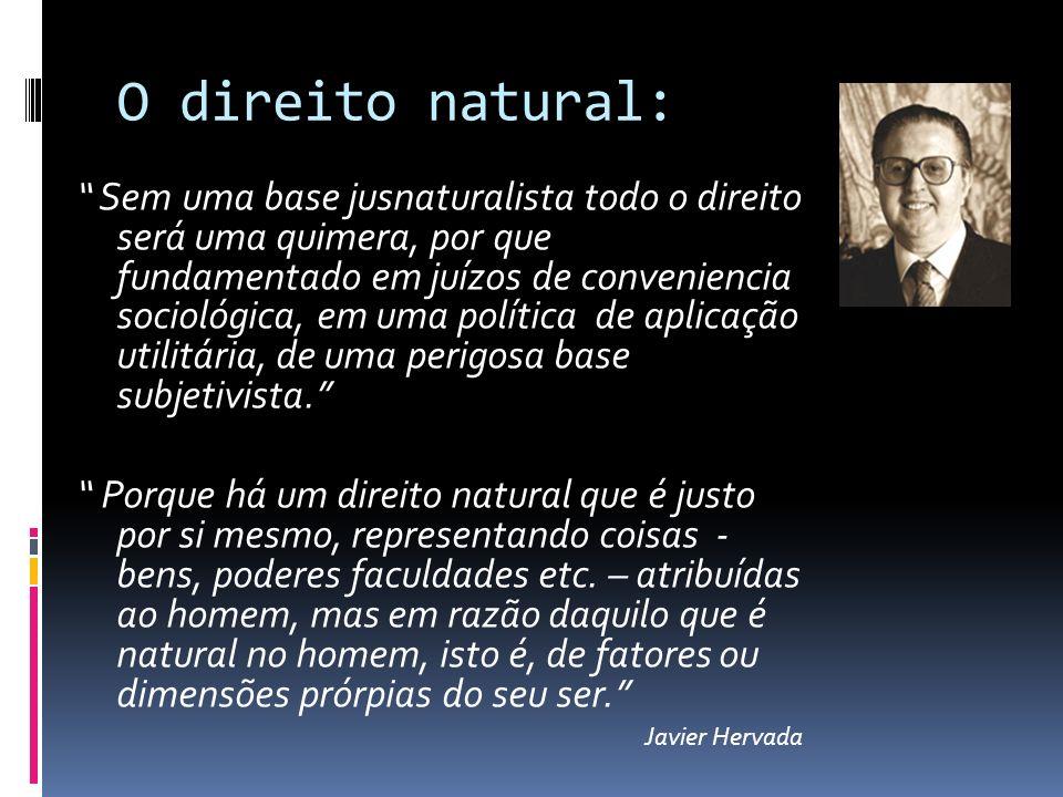O direito natural:
