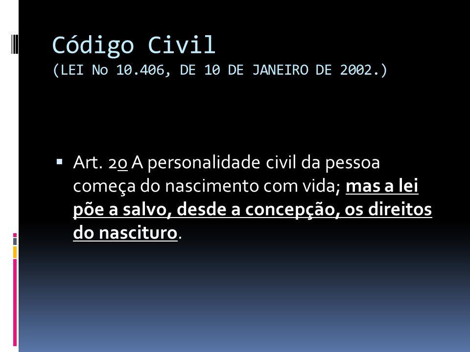 Código Civil (LEI No 10.406, DE 10 DE JANEIRO DE 2002.)