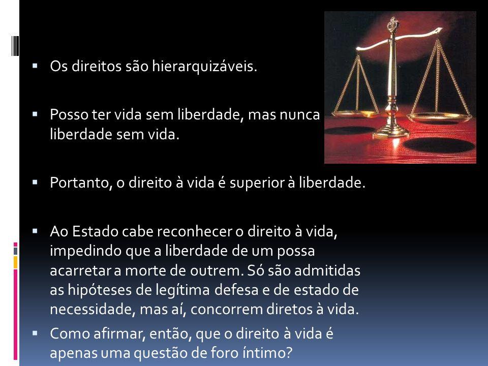 Os direitos são hierarquizáveis.