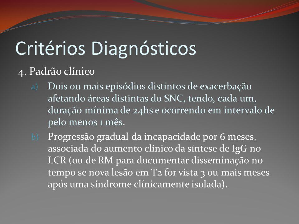 Critérios Diagnósticos