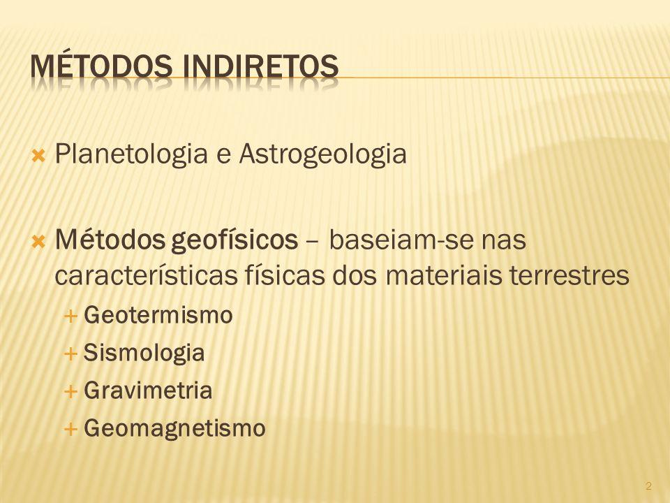 Métodos indiretos Planetologia e Astrogeologia