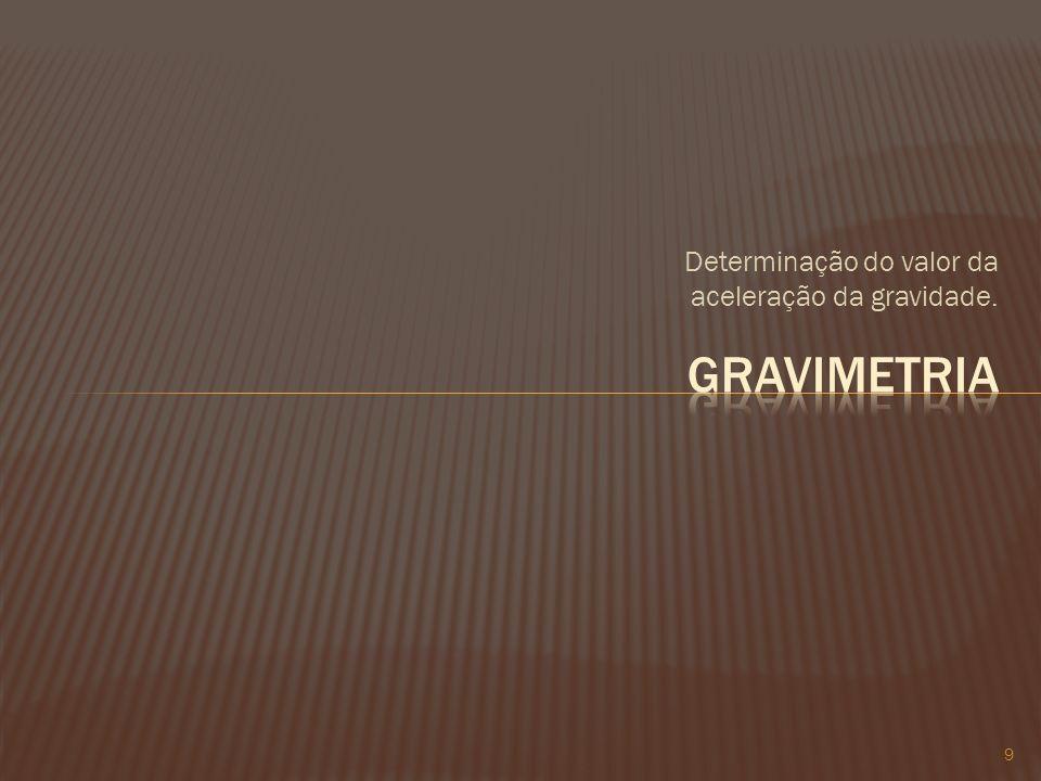 Determinação do valor da aceleração da gravidade.