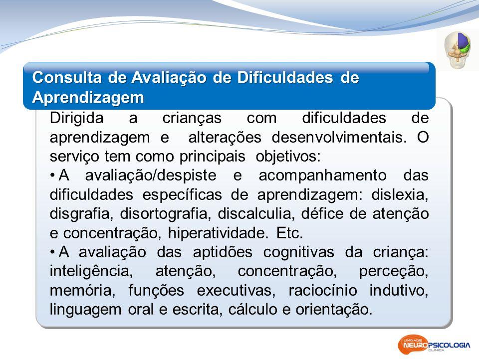 Consulta de Avaliação de Dificuldades de Aprendizagem
