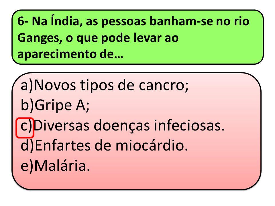 Diversas doenças infeciosas. Enfartes de miocárdio. Malária.
