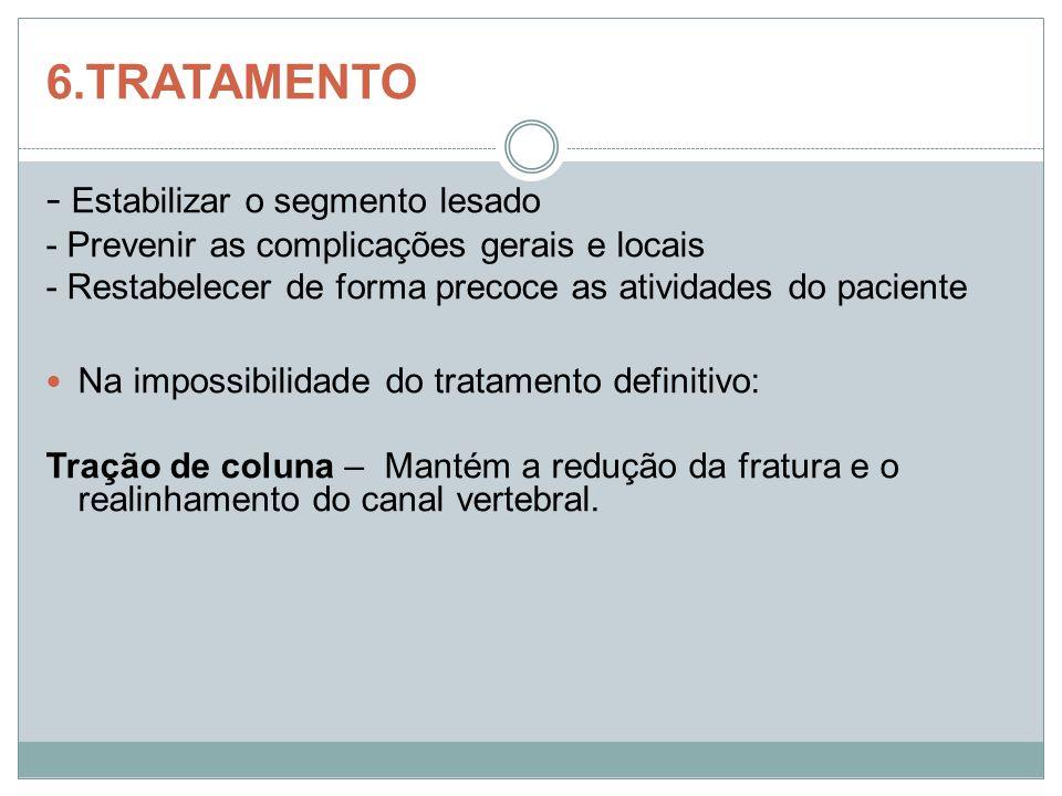 6.TRATAMENTO - Estabilizar o segmento lesado