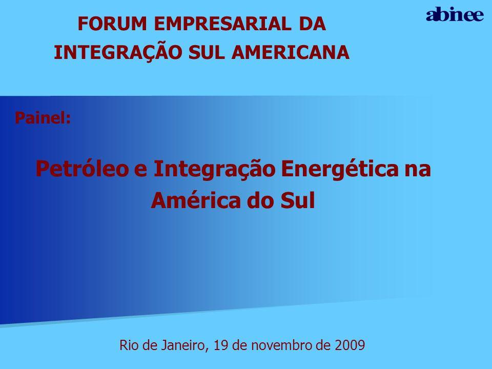 Petróleo e Integração Energética na América do Sul