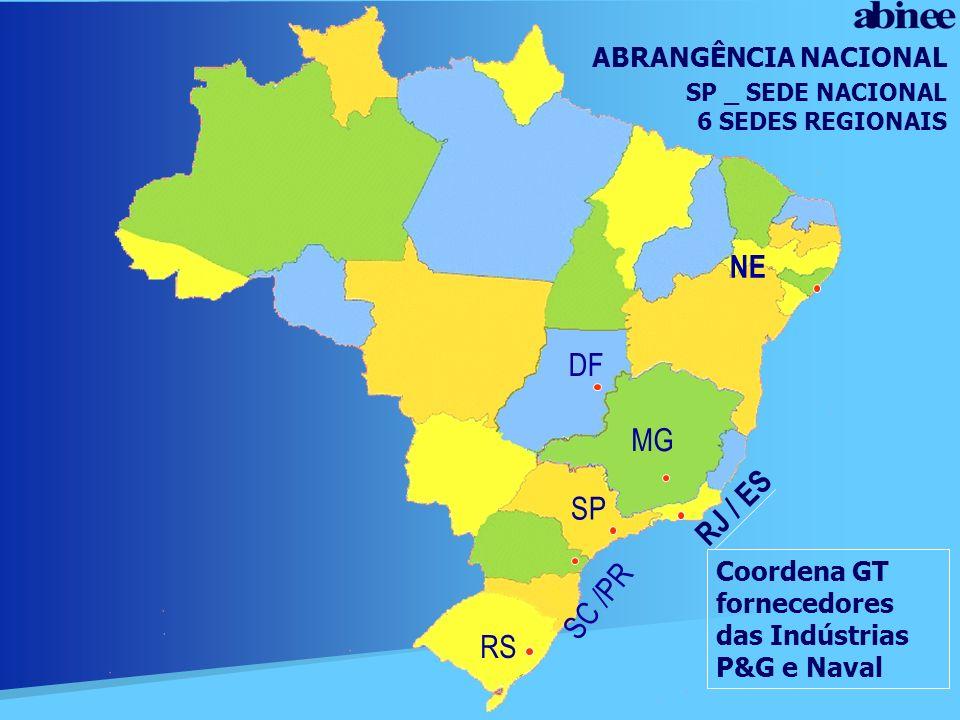 NE DF MG RJ / ES SP SC /PR RS ABRANGÊNCIA NACIONAL