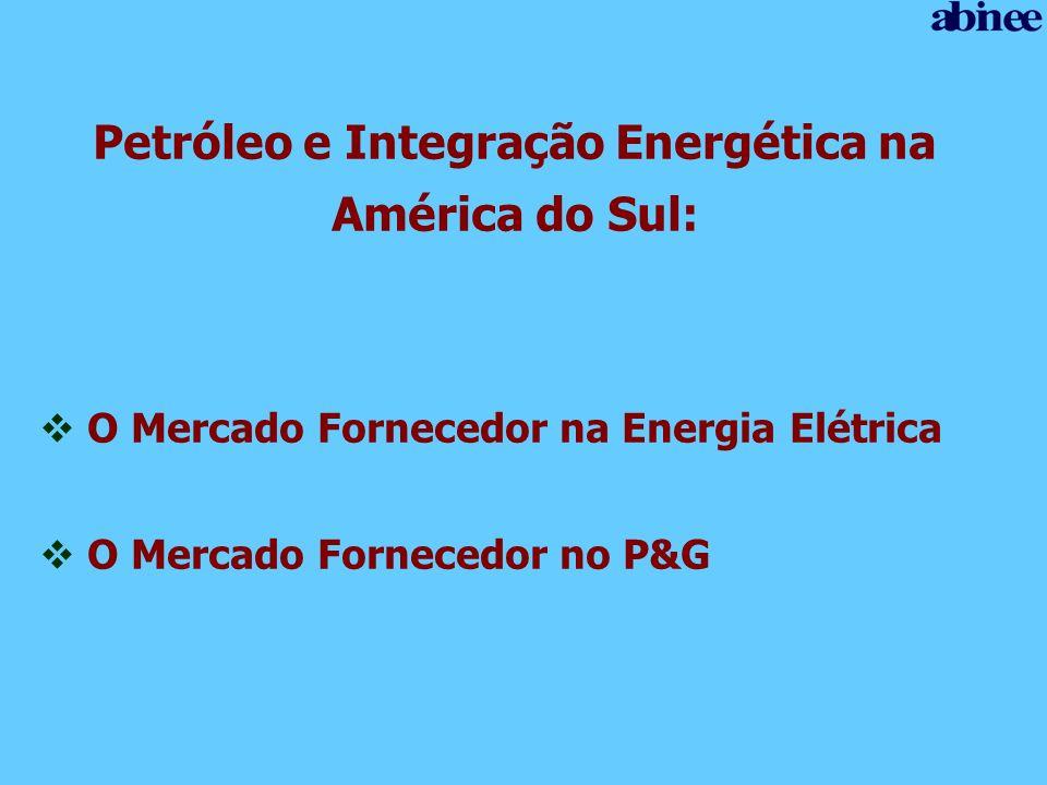Petróleo e Integração Energética na