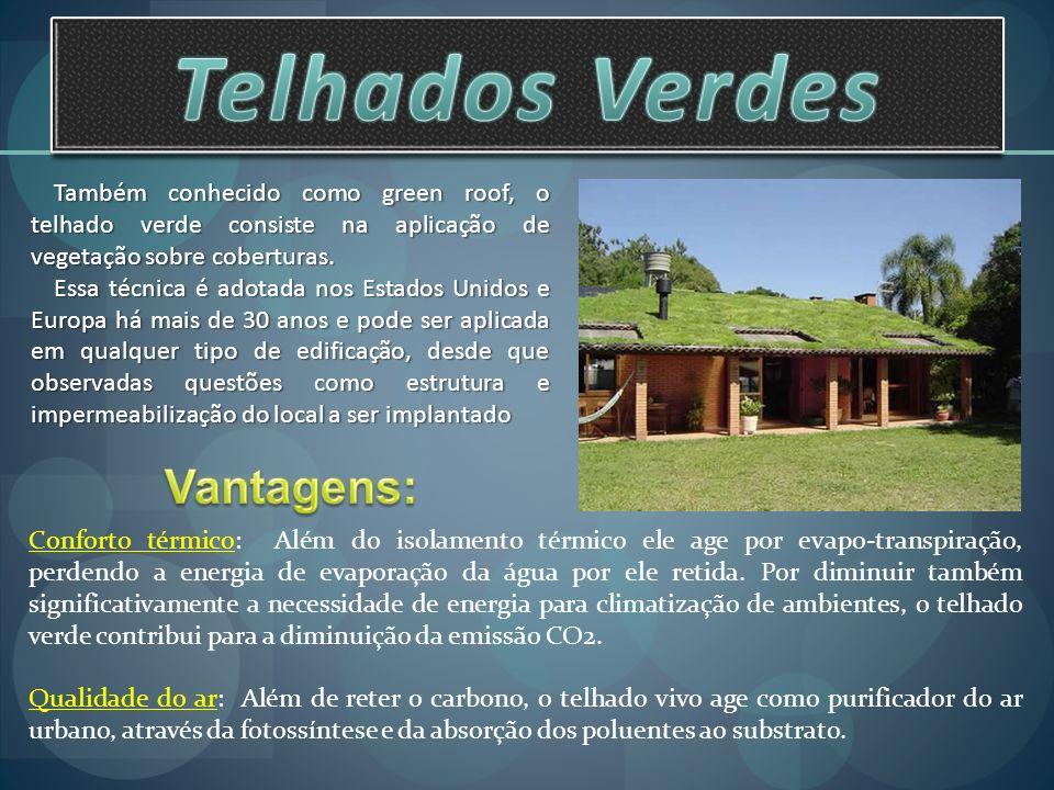 Telhados Verdes Vantagens: