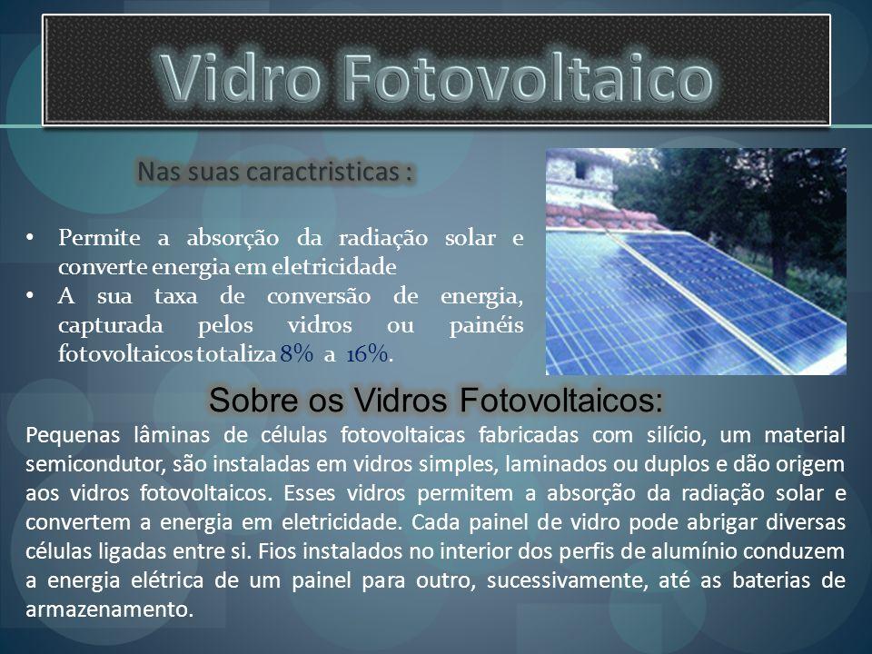 Vidro Fotovoltaico Sobre os Vidros Fotovoltaicos:
