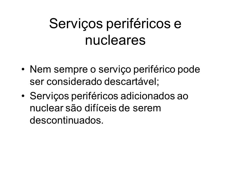 Serviços periféricos e nucleares