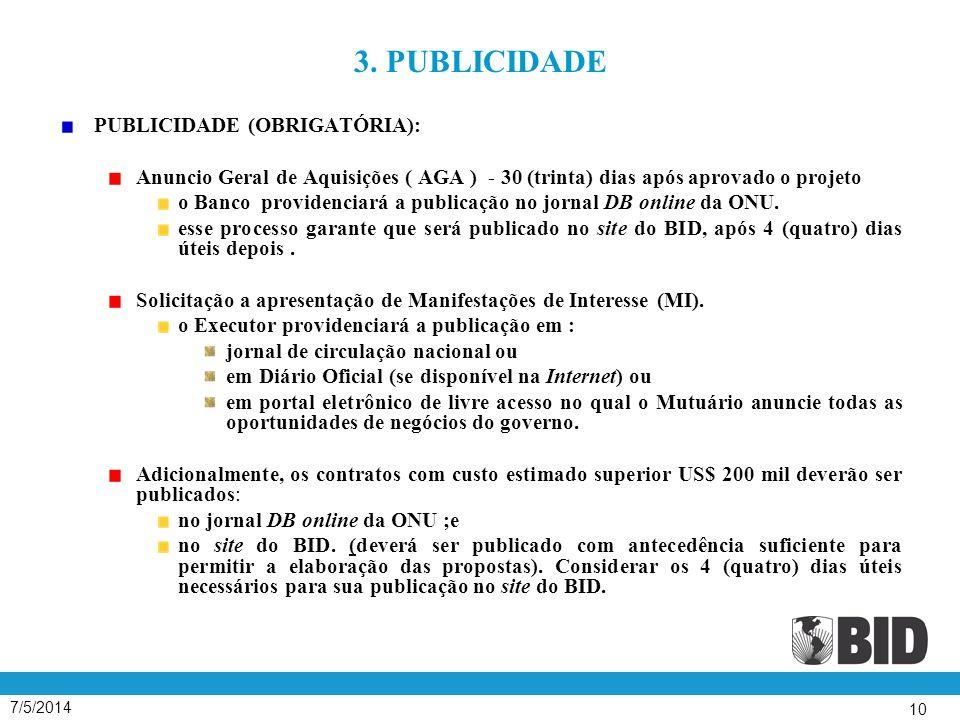 3. PUBLICIDADE PUBLICIDADE (OBRIGATÓRIA):