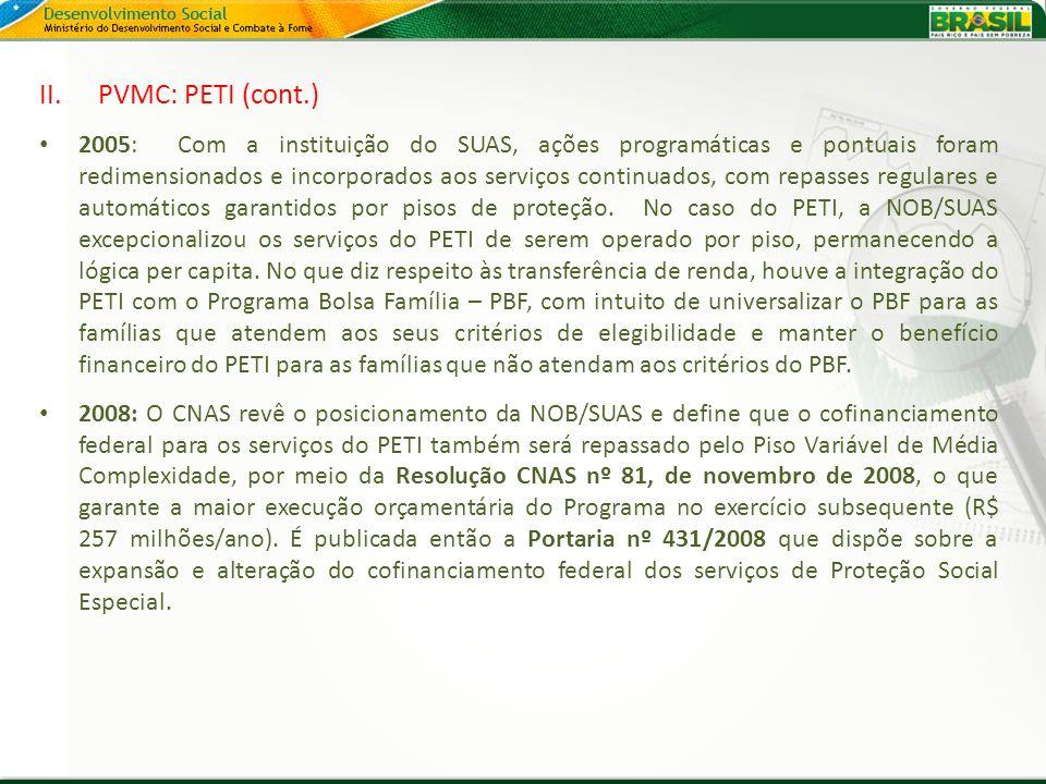 PVMC: PETI (cont.)