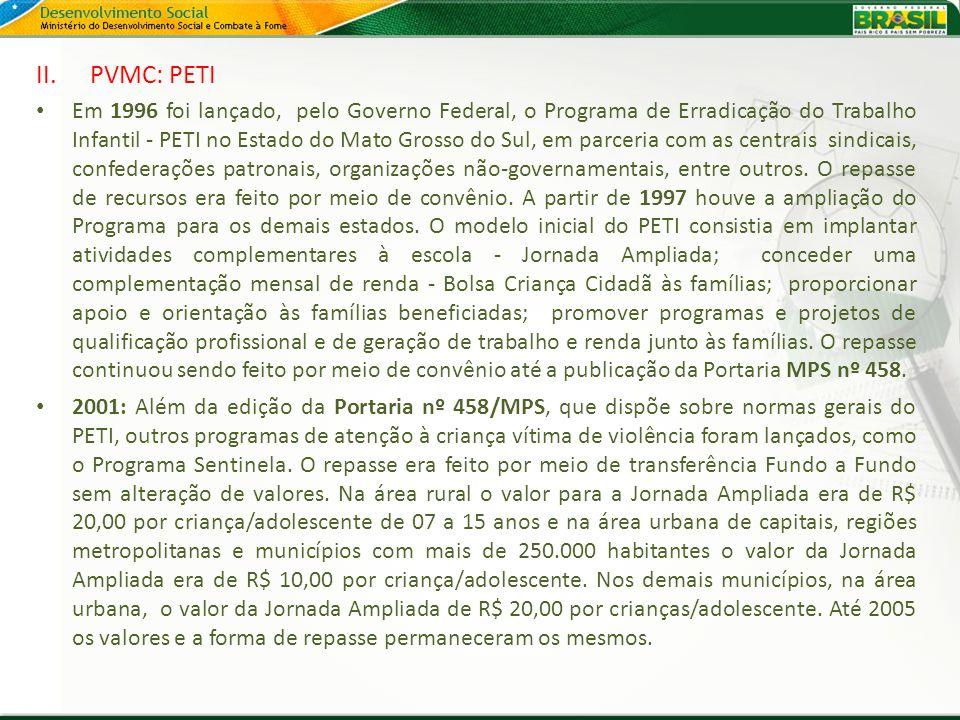 PVMC: PETI