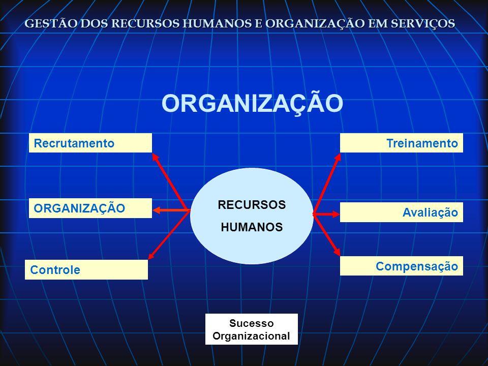 ORGANIZAÇÃO GESTÃO DOS RECURSOS HUMANOS E ORGANIZAÇÃO EM SERVIÇOS