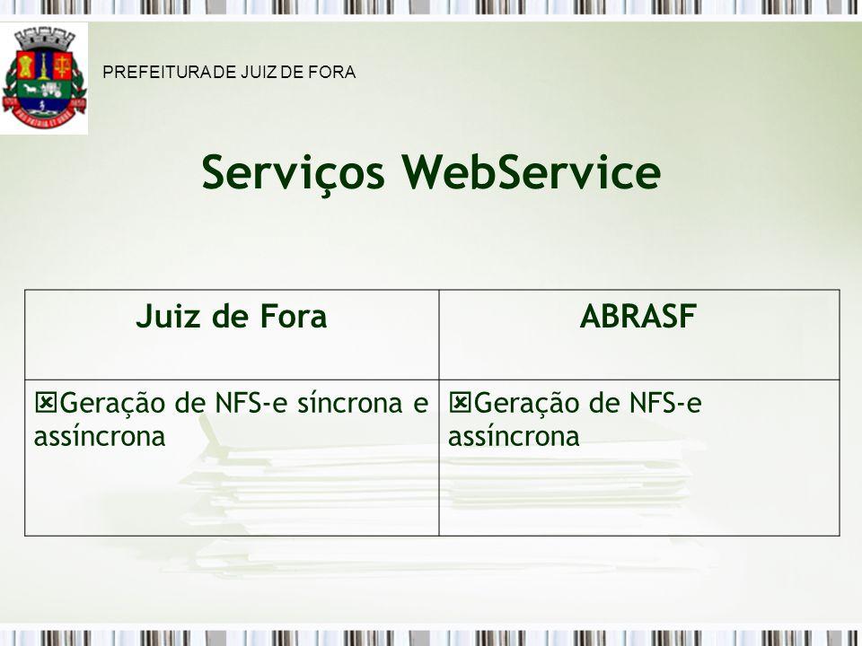 Serviços WebService Juiz de Fora ABRASF