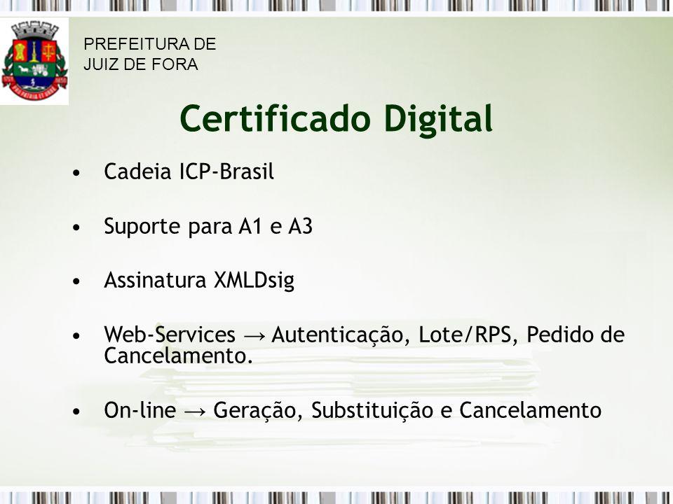 Certificado Digital Cadeia ICP-Brasil Suporte para A1 e A3