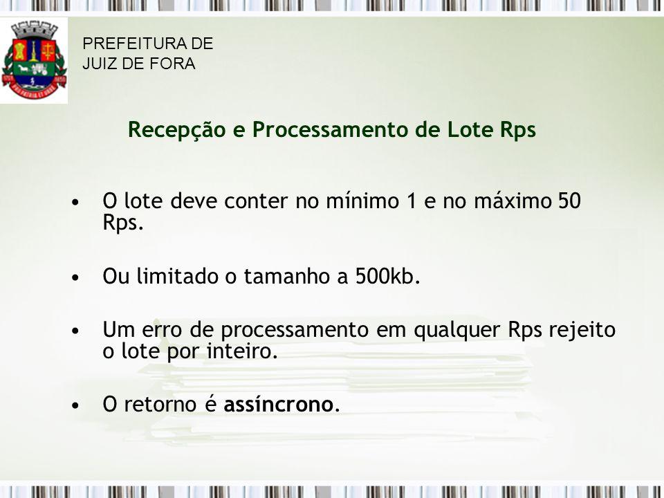 Recepção e Processamento de Lote Rps