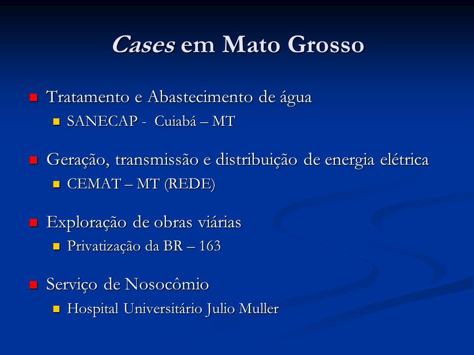 Cases em Mato Grosso Tratamento e Abastecimento de água