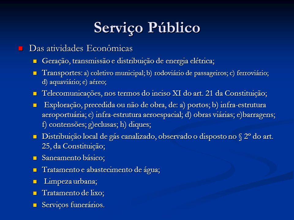 Serviço Público Das atividades Econômicas