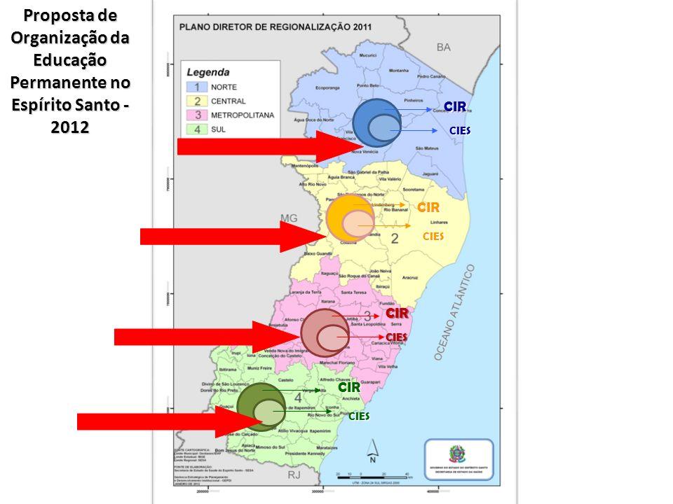 Proposta de Organização da Educação Permanente no Espírito Santo -2012