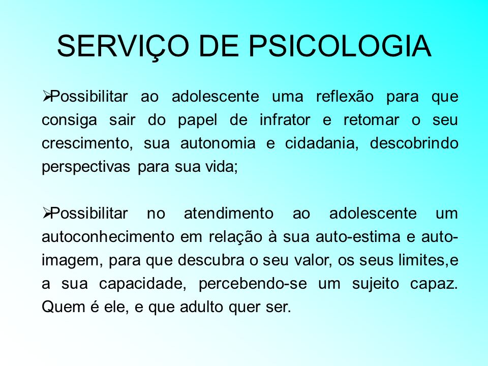 SERVIÇO DE PSICOLOGIA