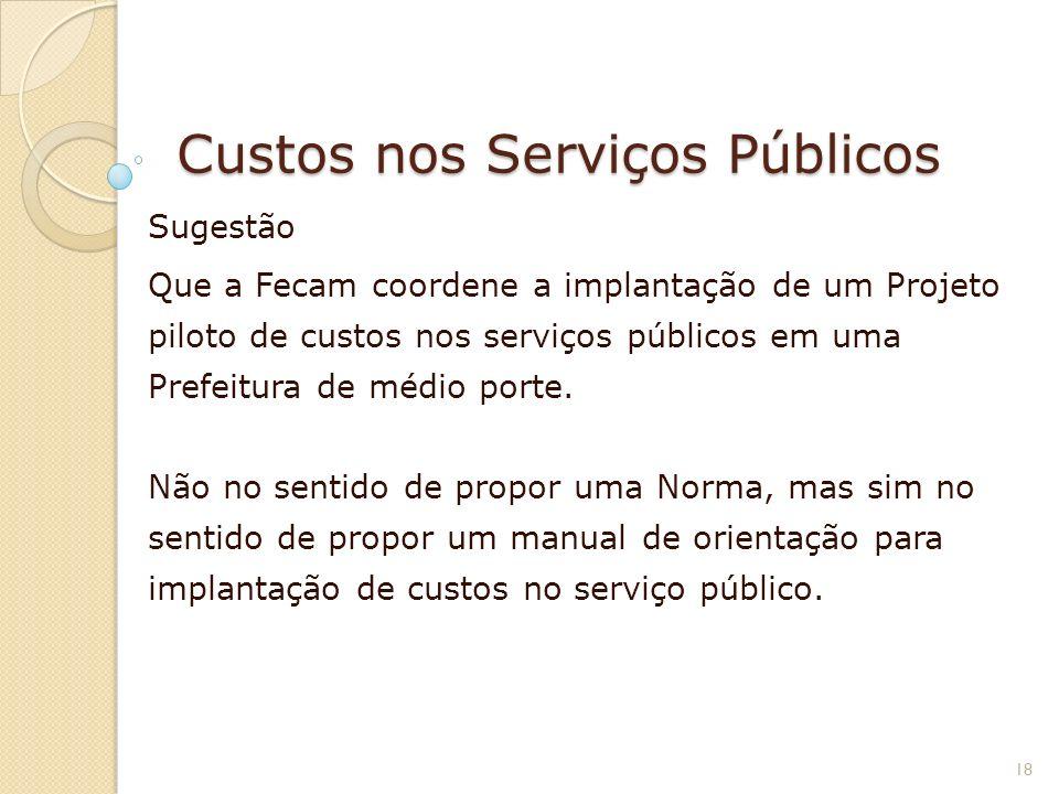 Custos nos Serviços Públicos