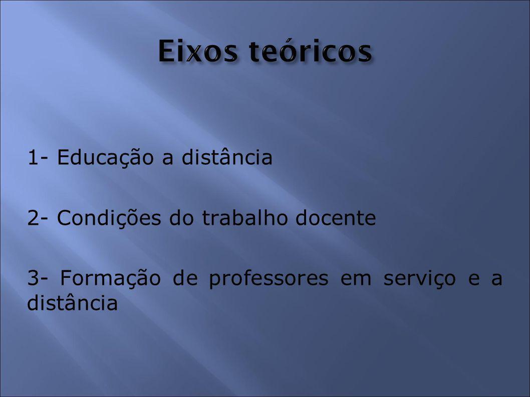 1- Educação a distância 2- Condições do trabalho docente.