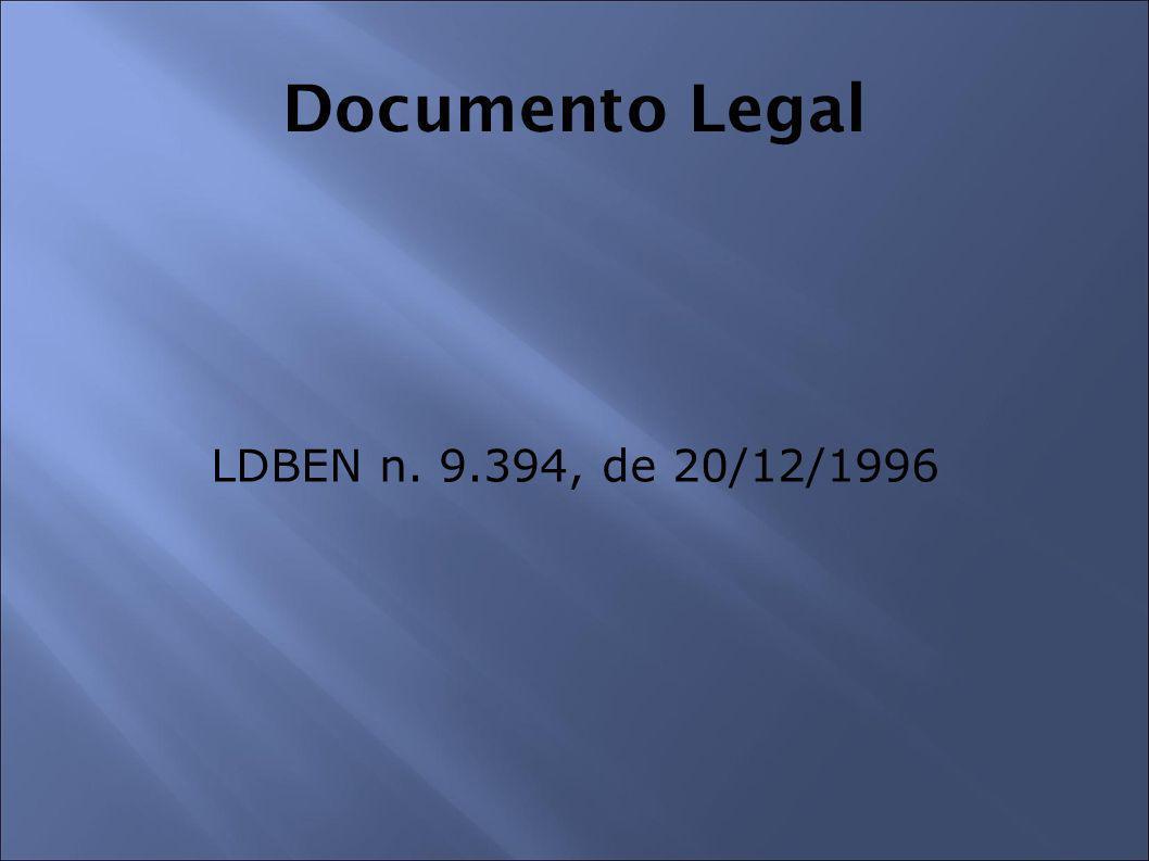 Documento Legal LDBEN n. 9.394, de 20/12/1996