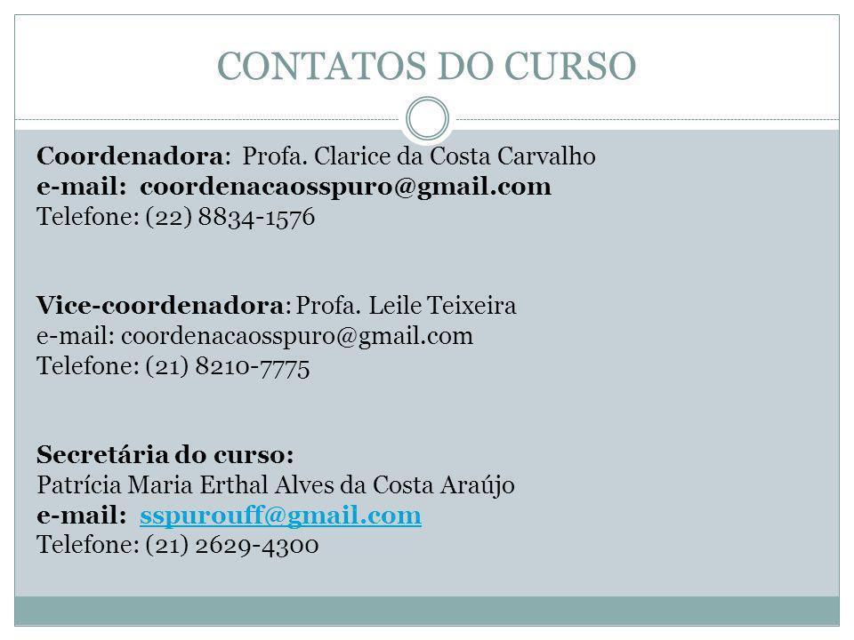 CONTATOS DO CURSO