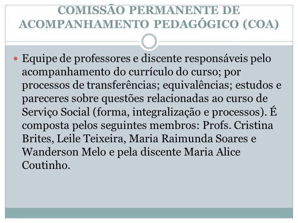 COMISSÃO PERMANENTE DE ACOMPANHAMENTO PEDAGÓGICO (COA)