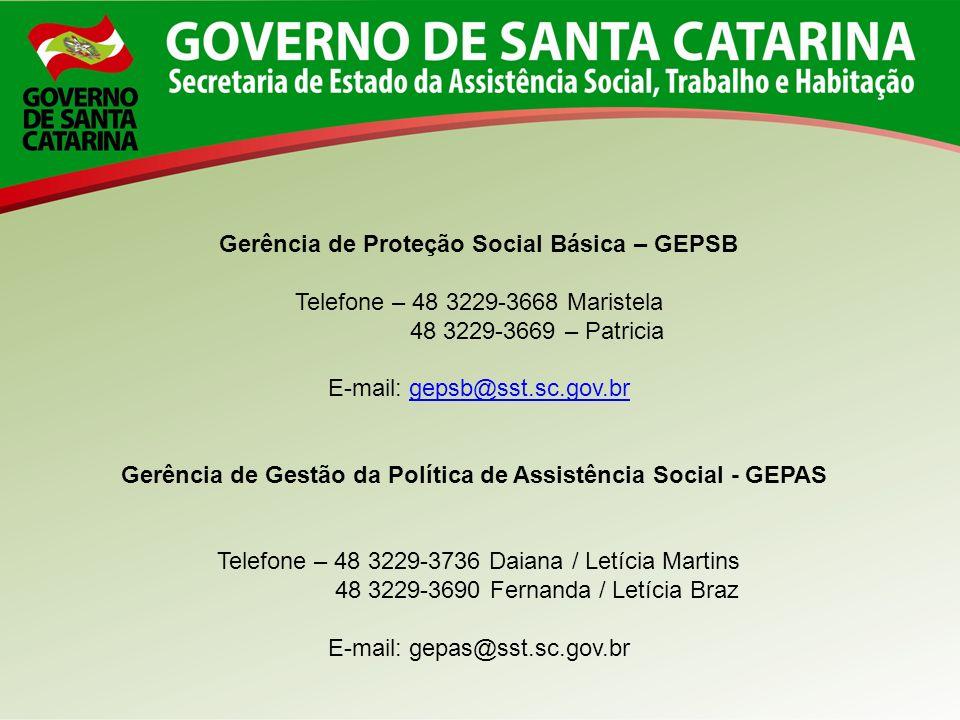 Gerência de Proteção Social Básica – GEPSB