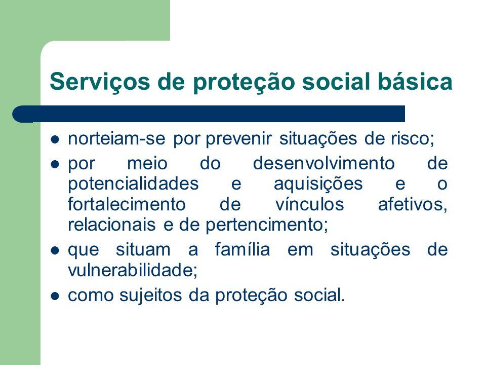 Serviços de proteção social básica
