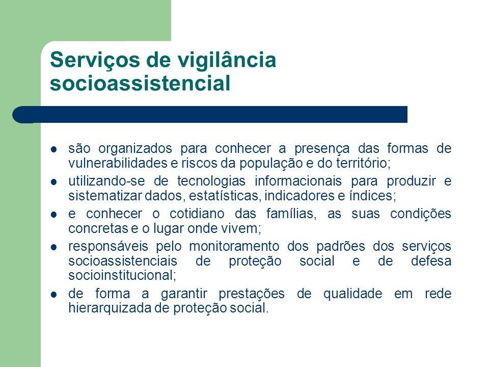 Serviços de vigilância socioassistencial