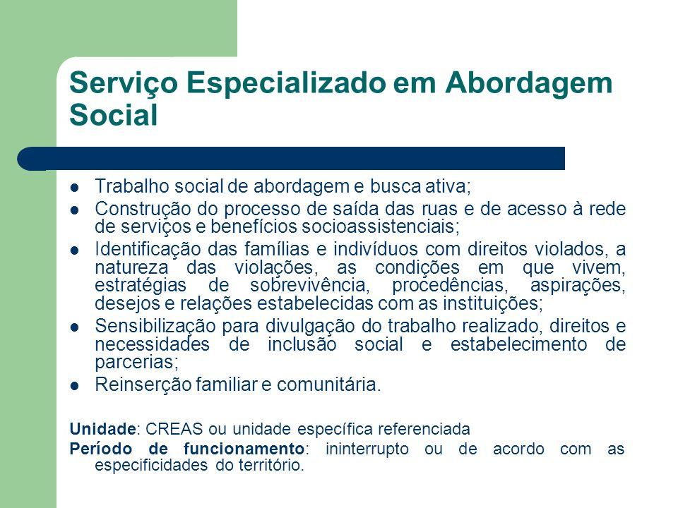 Serviço Especializado em Abordagem Social