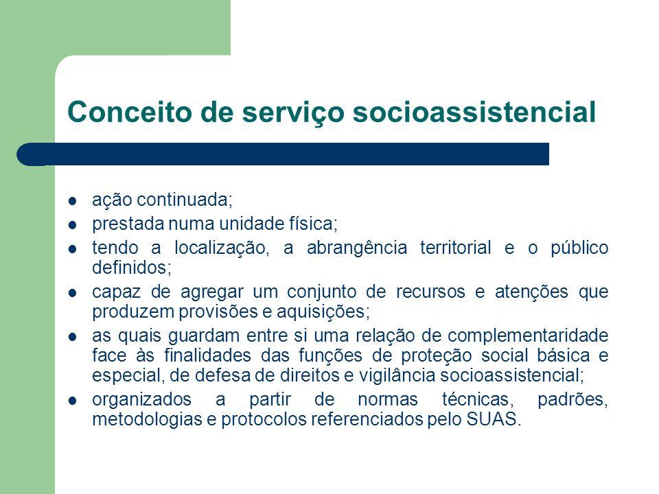 Conceito de serviço socioassistencial