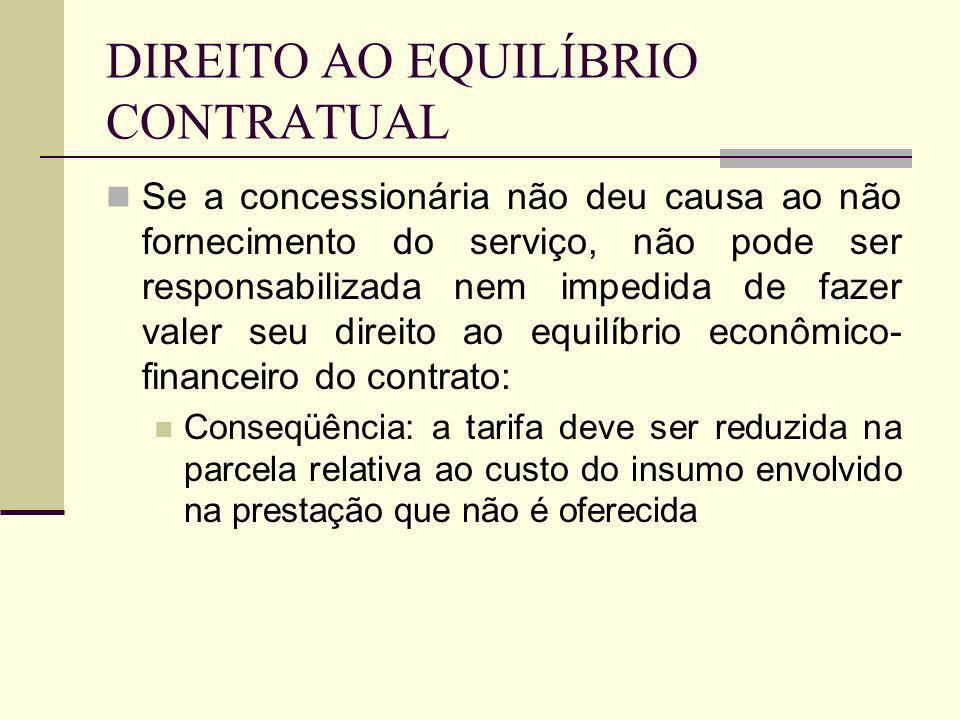 DIREITO AO EQUILÍBRIO CONTRATUAL