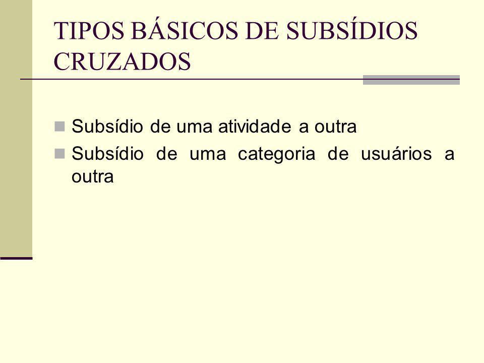 TIPOS BÁSICOS DE SUBSÍDIOS CRUZADOS