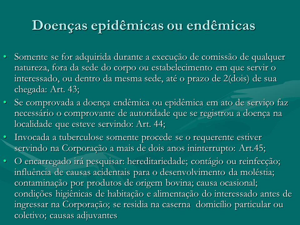 Doenças epidêmicas ou endêmicas