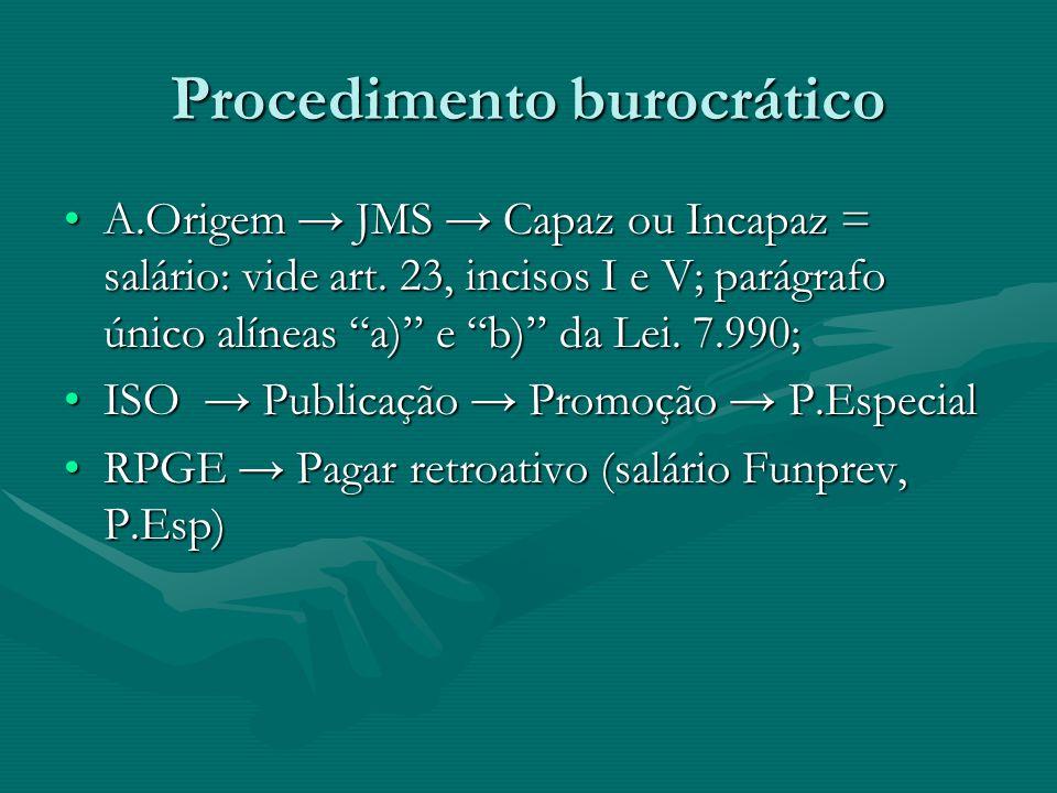 Procedimento burocrático