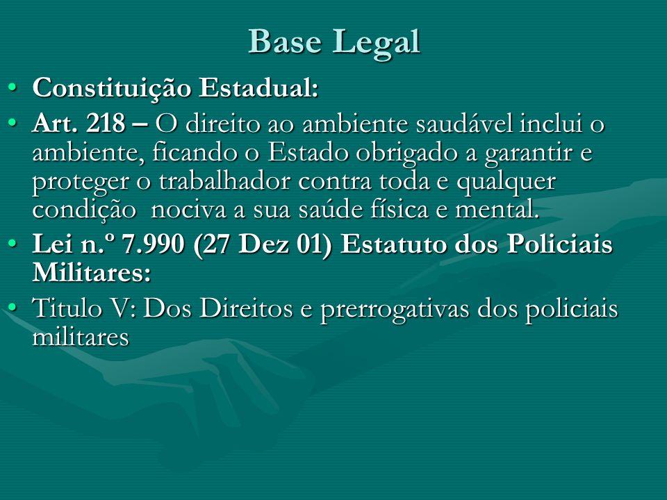 Base Legal Constituição Estadual: