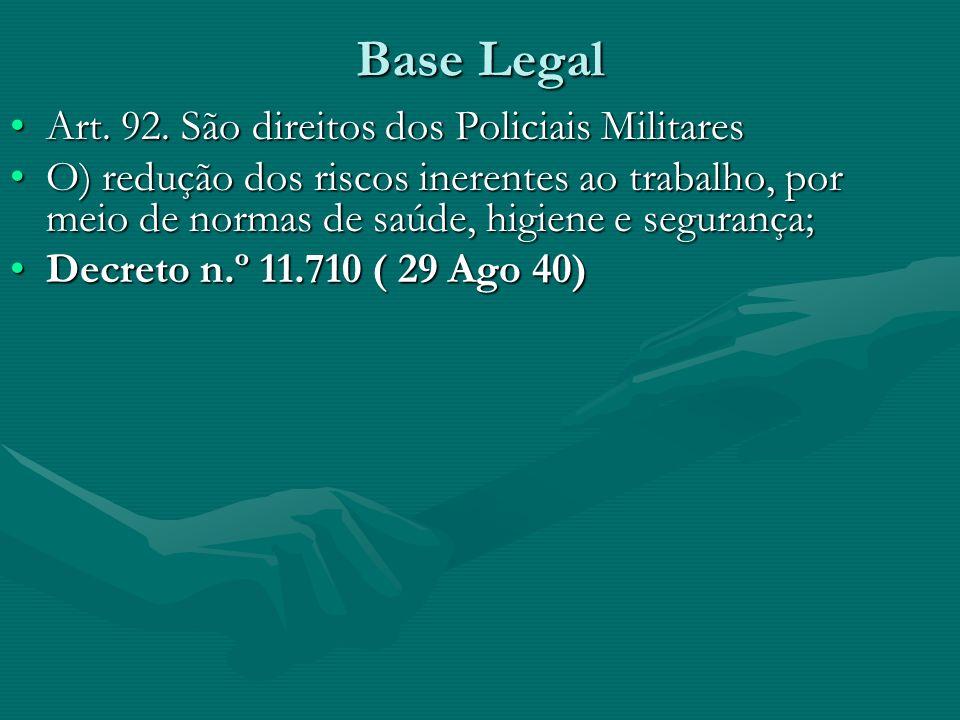 Base Legal Art. 92. São direitos dos Policiais Militares