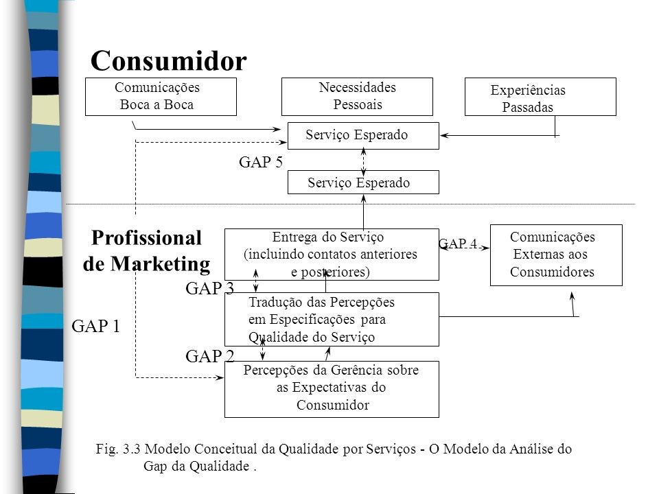 Consumidor Profissional de Marketing GAP 3 GAP 1 GAP 2 GAP 5