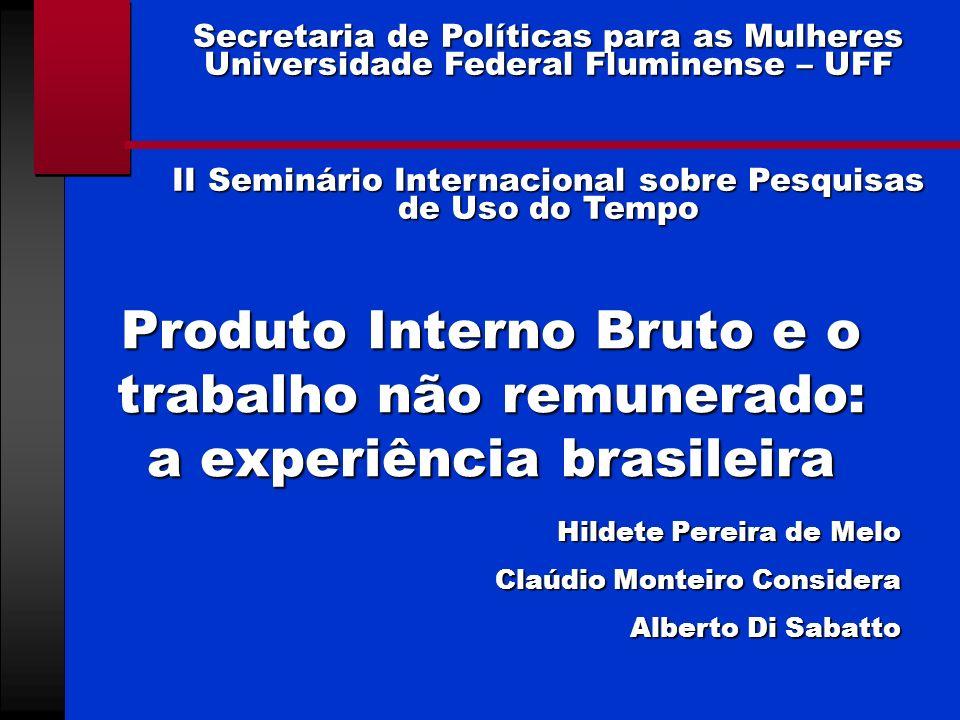 II Seminário Internacional sobre Pesquisas de Uso do Tempo