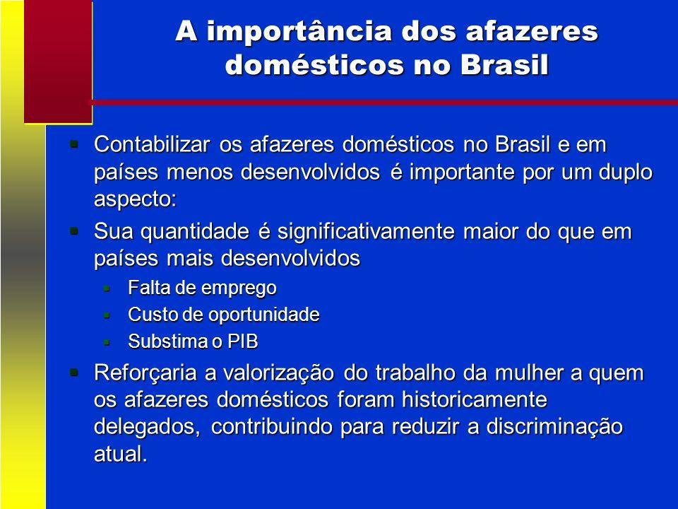 A importância dos afazeres domésticos no Brasil