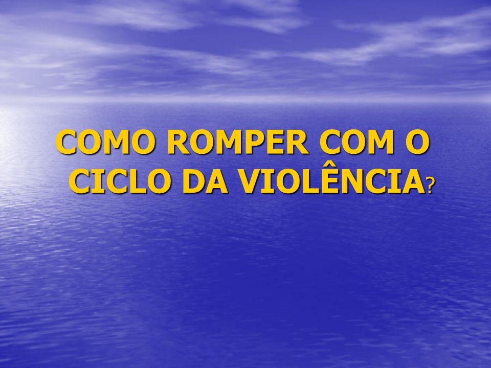 COMO ROMPER COM O CICLO DA VIOLÊNCIA
