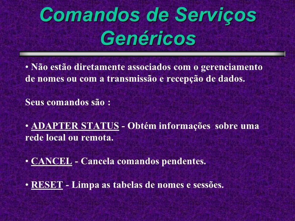 Comandos de Serviços Genéricos