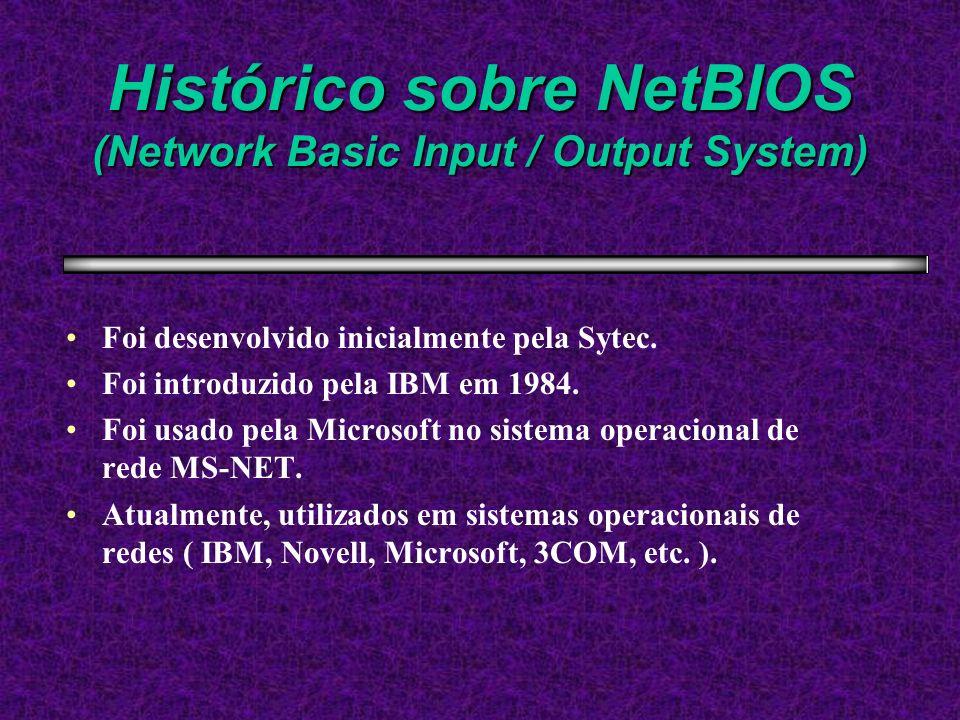 Histórico sobre NetBIOS (Network Basic Input / Output System)