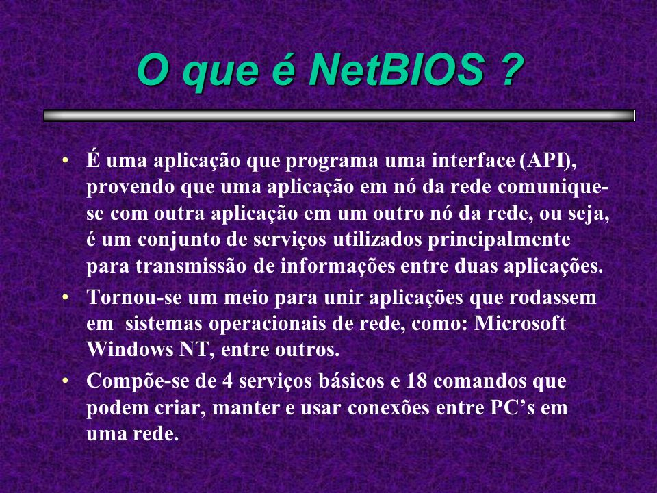 O que é NetBIOS